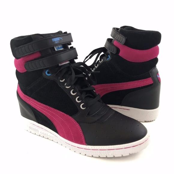545e15200f Puma Black Pink Sky Wedge Sneakers Size 9.5. M_5bfad26bc617778bbf3835f4